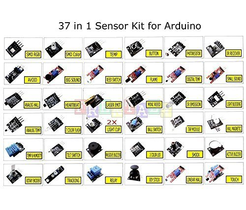 Frentaly Super Value Ultimate 37 in 1 Sensor Modules Kit for Arduino & MCU Education User