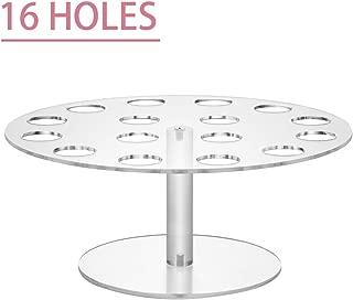 HIIMIEI Acrylic Cone Holder, Clear Acrylic 16-Holes Ice Cream Snow Cone Stand Holders