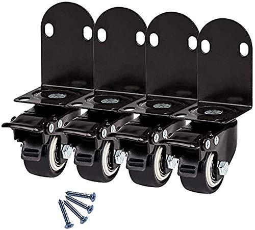 Casters 4 unids Muebles L Tipo de ángulo Recto Soporte 1.5/2 Pulgadas 40 / 50mm Silent Universal Swivel Baby Cuna Ruedas con Doble rodamiento para la Silla de Escritorio (Size : 1.5 Inch 40mm)