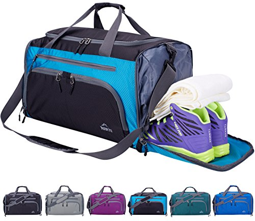 Venture Pal 20' Packable Sports Gym Bag with Wet Pocket & Shoes Compartment Travel Duffel Bag for Men and Women-Blue