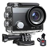 Foto Action Cam 20MP 4K Fotocamera Impermeabile Videocamera EIS 40M Anti-Shake Fotocamera Subacquea 170° Supporto Grandangolare Microfono Esterno con Telecomando Kit di Montaggio Batteria 2X1050mAh