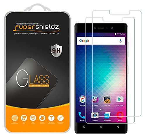 (2 Pack) Supershieldz Designed for BLU Vivo 5R Tempered Glass Screen Protector, 0.33mm, Anti Scratch, Bubble Free