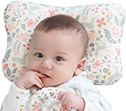W WelLifes Baby Pillow for Newborn Breathable 3D Air Mesh Organic Cotton, Protection for Flat Head Syndrome Bambi Pink