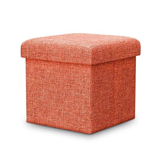 Reposapiés para el hogar, plegable, otomano, tapizado, de lujo, a la moda, puffes de sofá, banco de asiento, ahorro de espacio, carga máxima de 150 kg (color: C, tamaño: 38 x 38 x 38 cm)