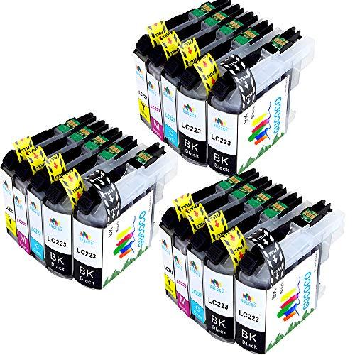 GUCOCO Reemplazo para Brother LC223 Cartuchos de Tinta Alta Capacidad Compatible para Brother DCP-J562DW DCP-J4120DW MFC-J480DW MFC-J4420DW MFC-J5320DW (6 Negro, 3 Cyan, 3 Magenta, 3 Amarillo)