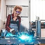 Gafas de soldadura, gafas de soldar con oscurecimiento automático solar, lentes de PC, casco de soldador, gafas con correa elástica para la protección de los ojos del soldador