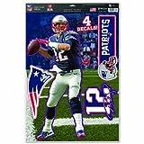 "Originales NFL New England Patriots Aufkleber-Bogen-Set ""Tom Brady"" in 28*43 cm"