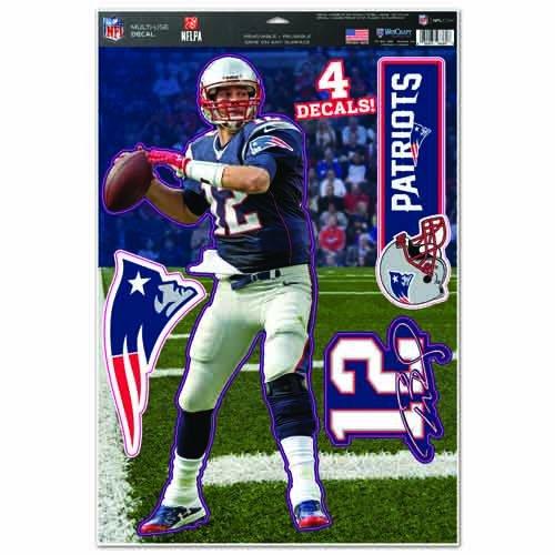Originales NFL New England Patriots Aufkleber-Bogen-Set