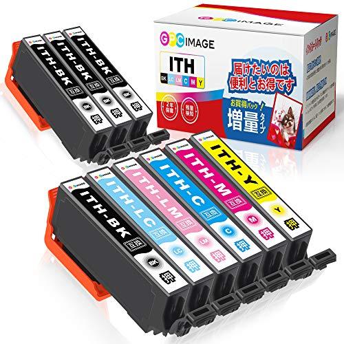 GPC Image エプソン対応 Epson用 ITH-6CL イチョウ インク 9本セット(6色セット+ 黒 3本)ITH 互換インク EP-811AB EP-811AW EP-709A EP-710A EP-711A EP-810AB EP-810AW インク 残量表示機能 2年保証 個包装 大容量 説明書付