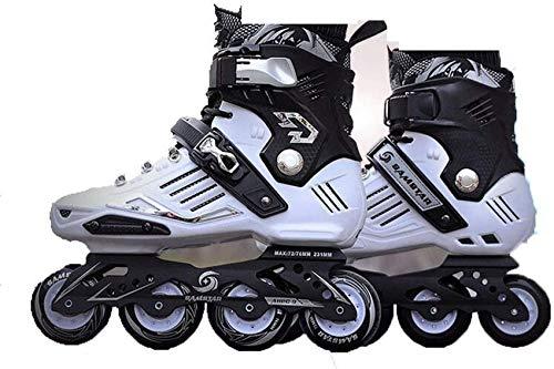 Mnjin Bladerunner von Rollerblade, Inline-Skate für Damen/Herren für Erwachsene, schwarz und weiß, Inline-Skaes, weiß, 38