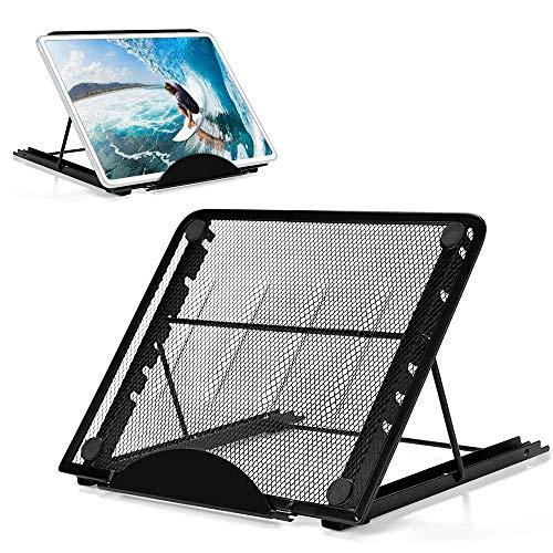 laxikoo Laptop Ständer, Notebook Ständer mit Verstellbar Multi-Winkel Laptopständer Faltbar rostfreier Stahl Tablet Halterung Tragbarer Kompatibel mit Laptop (10 inch-15 inch) iPad Air/Mini/MacBook