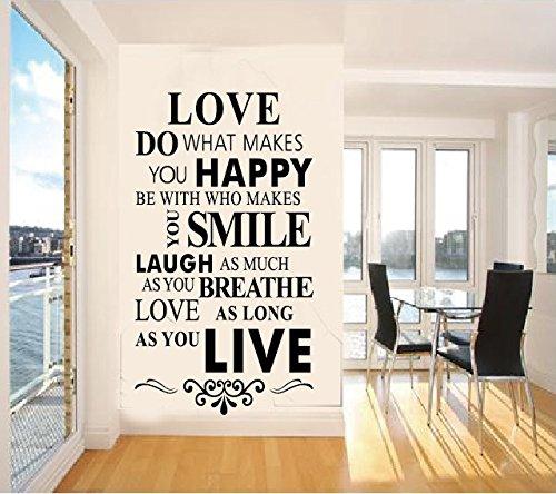 Rainbow Fox Reglas de La Casa Vinilo Adhesivo Para Pared Inglés famoso & Inspirational Quotes pegatinas de pared refranes para decoración del hogar