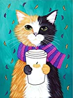 大人のための5Dダイヤモンド絵画キット漫画動物猫クロスステッチダイヤモンド刺繡ラインストーンウォールステッカー部屋の装飾スクエアドリル40×50cm