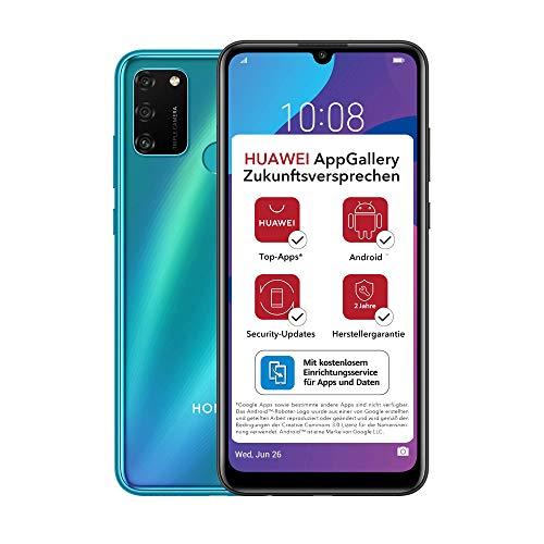 HONOR 9A Dual-SIM Smartphone - Phantom Blue (6,3 Zoll Bildschirm, 64 + 3GB, Android 10 AOSP ohne Google Play Store, Magic UI 3.1) + 13MP Triple-Kamera + 8MP Frontkamera – Deutsche Version