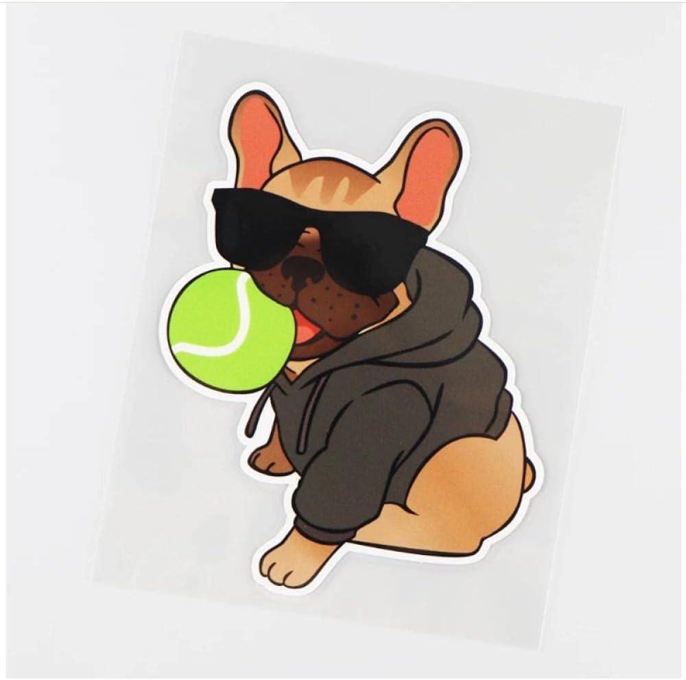 WYZDGTD Sticker de Carro by Cool Art Perros y Pelotas en Gafas de Sol Calcomanía de Vinilo Etiqueta engomada del Coche Animal 2Pcs 10.3X13 Cm