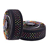 Tvoip 2 Rolls Soft Road Bike Bicycle Handlebar Tape EVA PU Bar Tape Professional Cycling Damping Anti-Vibration Wrap (Mix)