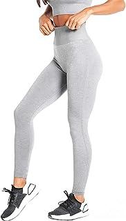 N JNVNI Women's High Waist Leggings Yoga Pants Workout Leggings Running Tights