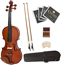 Cecilio 1/4 CVN-400 Solid Wood Flamed Violin with Satin Finish