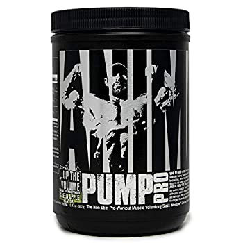 Animal Pump Pro Powder – Non Stimulant Preworkout – Pump & Cell volumization with Added Sea Salt for Electrolytes – 20 Servings - Green Apple