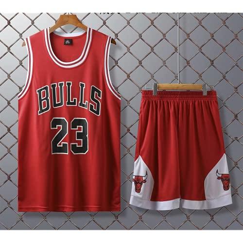 Hombres Adultos Michael Jordan # 23 Camisetas De Baloncesto De Los Chicago Bulls, Uniforme De Baloncesto Retro Chaleco Sin Mangas De Verano Trajes Deportivos Kits Top + Short 1 Set