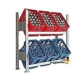 Lagerknecht Getränkekistenregal 6 Kisten Made in Germany professionelle Ordnung für Kisten; Regal für Getränkekisten, Getränkeregal, Wasserkistenregal, Bierkistenregal