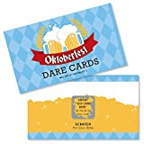 Big Dot of Happiness Oktoberfest - German Beer Festival Game Scratch Off Dare Cards - 22 Count