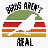 Birds aren't Real Movement Resist Bird Drone Spy Fun Gifts for Men and Women Sticker Decal Bumper Sticker 5'