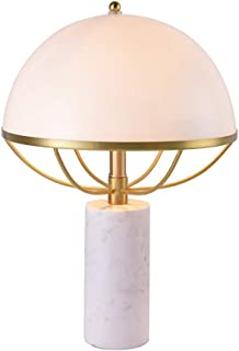 Home Equipment Simple Natural Marble Table Lamp Umbrella Shade Postmodern Fashion Luxury Living Room Bedroom Decorative La...