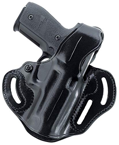 Galco - Fletch High Ride Belt Holster for Glock 19 Gen 1-4, 19 Gen 5, 19x, 23, 32, 45, Left Hand (Black) (FL227B)