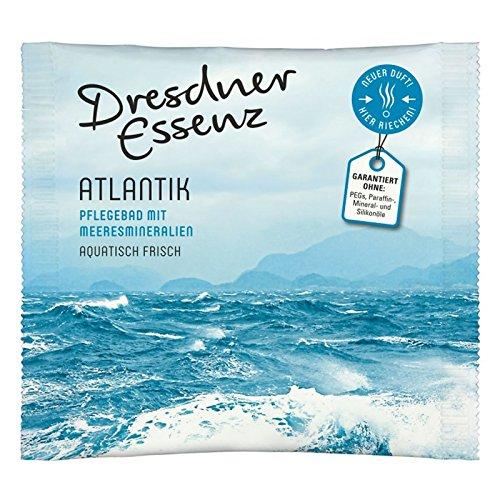 10er Pack Dresdner Essenz Pflegebad Badezusatz Badeessenz Atlantik Inhalt 10 x 60 g ph-hautneutral Badesalz Wellness Pflegebad mit Meeresmineralien