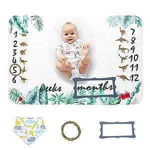 Miracle Baby Manta Mensual De Hito Para Bebé, Manta de Hito Recién Nacidos Para Fotos, Regalos Personalizados Para…