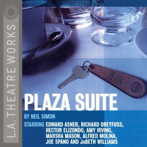 Plaza Suite                   By:                                                                                                                                 Neil Simon                               Narrated by:                                                                                                                                 JoBeth Williams,                                                                                        Edward Asner,                                                                                        Hector Elizondo,                   and others                 Length: 1 hr and 41 mins     5 ratings     Overall 4.0