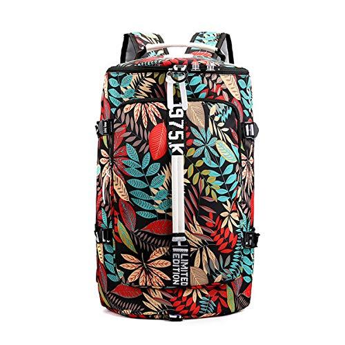 Vohoney Sporttasche Herren Damen Sportbag Sport-Taschen Rucksack Canvas Travel Bag Weekender Gym Sport Tasche (Schwarz Rucksack Sporttasche)