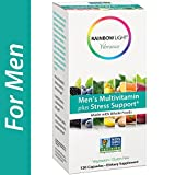 Rainbow Light Vibrance, Men's Multivitamin plus Stress Support, Made with Whole Foods, Eases Stress, Supports Healthy Stress Response, Fortifies the Immune System, 120-Count - Flavors: Stress Support