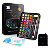 Fstaor 36 Colors Watercolour Paint with 1 Water...