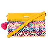Chumbak Beaded Chevron Sling Bag - Yellow