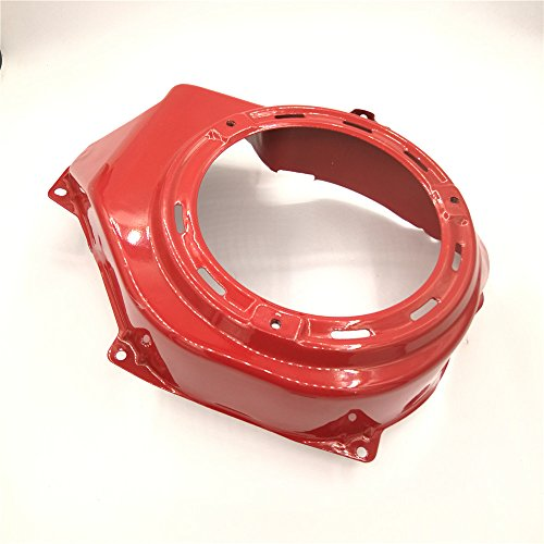 shiosheng Red Recoil Pull Starter Cooling Fan Cover Shroud for Honda GX390 GX340 188F 5Kw 6.5Kw 11HP 13HP Engine Gas Generator Water Pump