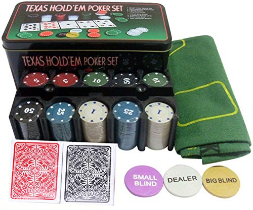 Styleys Poker Set Casino Game - 200 Poker Chips