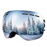 Bfull OTG Lunette de Ski, Lunettes d'anti-buée et Coupe-Vent pour Les Hommes,Les Femmes et Les Jeunes, Protection UV 400 et...
