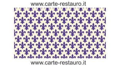 CARTA RESTAURO GIGLIATA BLU - formato 50x70 - confezione da 10 fogli