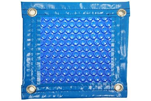 Thermodeken (thermo-afdekking voor zwembad), 600 micrometer, milieuvriendelijk, met versteviging aan alle kanten + ogen van roestvrij staal + beschermingsafdekking voor zonne-energie. roségoud. 6 x 5.5m.