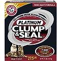ARM & HAMMER Clump & Seal Platinum Clumping Cat Litter, Multi-Cat, 27.5lb