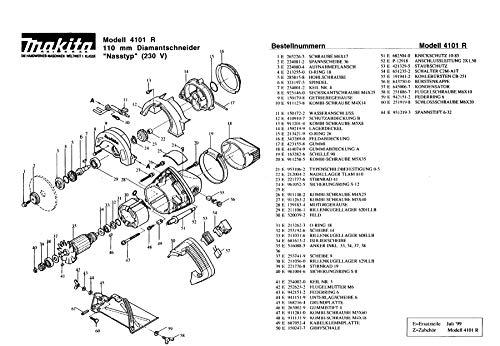 Makita 212004-2-1332 Needle Bearing TLAM 810 Original Replacement Part 4101 R
