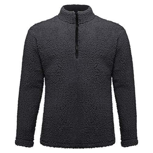 KUKICAT Kapuzenpullover Herrenmode einfarbiger Fleece-Pullover einfarbiges langärmliges einfarbiges Sweatshirt mit Langen Ärmeln und rundem Ausschnitt Winterjacke mit Kapuze