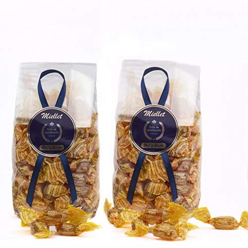 500 gr (PACK 2 BOLSAS x 250 gr) - Miellet - Miel & Limón - Caramelos artesanales con miel de origen español. Suaviza la garganta, evita la tos y contiene propiedades antisépticas. SIN GLUTEN