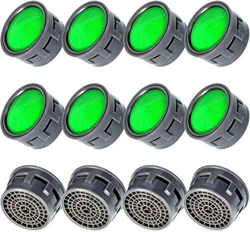 12 Stück 21 mm Wasserhahn-Belüfter, Wassersparende Wasserhahn-Ersatz-Luftsprudler für Bad oder Küche