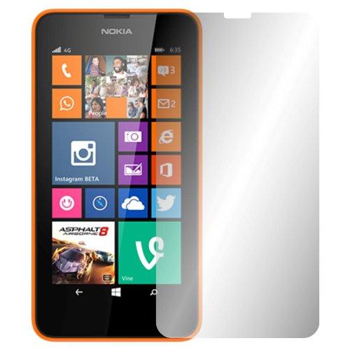 Slabo 2 x Pellicola Protettiva per Display Compatibile con Nokia Lumia 630 | 635 Crystal Clear Invisibile