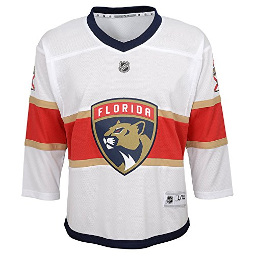 Outerstuff Youth NHL Replica Jersey-Away Florida Panthers, White, Youth Large (12-14)