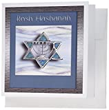 3dRose Rosh Hashanah Star of David - Greeting Cards, 6 x 6 inches, set of 12 (gc_23831_2)