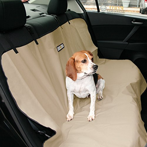 DOG for DOG Car Seat Covers for Dogs - Pet Car Seat Cover Waterproof Heavy Duty Bench 600D Universal Design (Beige), I-DFD0014-BGE Indiana